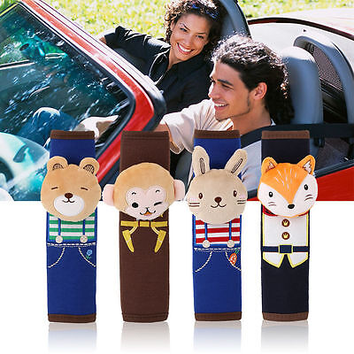 Kids Car Safety Belt Shoulder Pad Cartoon Auto Seat Cushion Harness Pillow Toy