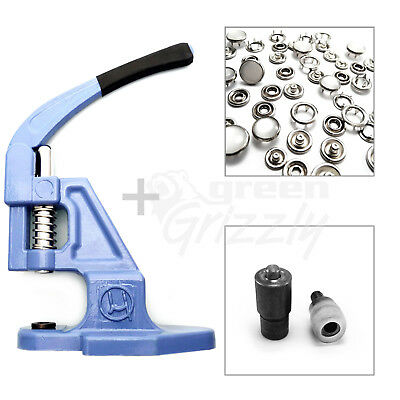 Pack of hand press, fixing tool die Metal Press Studs Poppers and supplies
