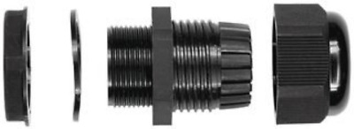 """BUD Industries NG-9512 Nylon Cable Gland, 5/32""""- 1/4"""" Cable Diameter, 39/64"""" for"""