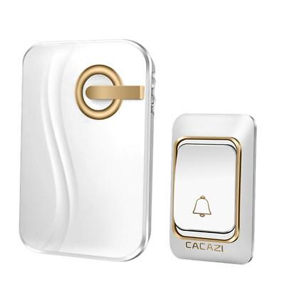 Wireless Battery Operated Doorbell Door Chime with 1 Transmitter+1 Receiver