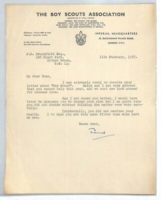 BS210 1955 GB The Boy Scouts Association London Letter PTS
