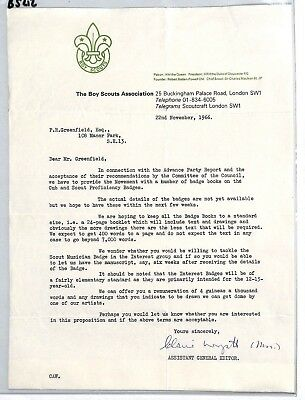 BS212 1966 GB The Boy Scouts Association London Letter PTS