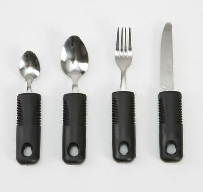 Chunky Soft Comfort Grips Cutlery Set Knife Fork Teaspoon and Desert Spoon