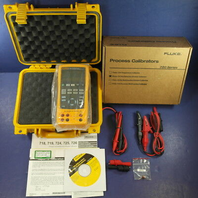 New Fluke 725 Multifunction Process Calibrator, Hard Case, Box, More