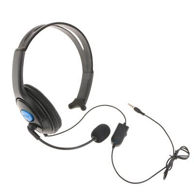 WIRED HEADSET STEREO Gaming Single Ear Headphone w/Mic for PS4/ Xbox ...