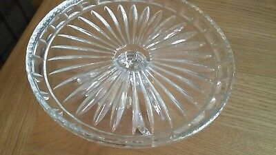 Vintage pressed glass cake stand