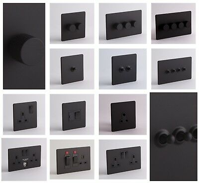 DESIGNER SOCKETS AND SWITCHES - Black
