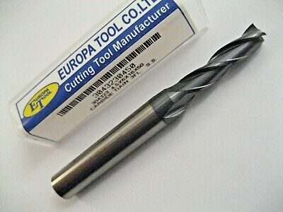 4.5mm CARBIDE 3 FLUTED TiALN COATED SLOT / END MILL EUROPA TOOL 3043230450  #4