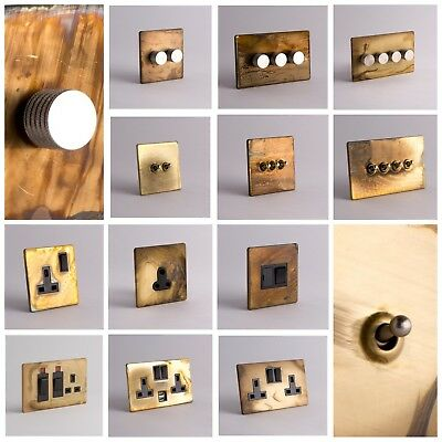 DESIGNER SOCKETS AND SWITCHES - Smoked Gold and Silver