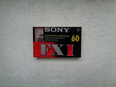 Vintage Audio Cassette SONY FX I 60 * Rare From 1996 *