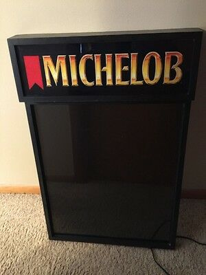Vintage MICHELOB BEER DRY ERASE BOARD LIGHT SIGN Bar Advertising Board SPECIALS