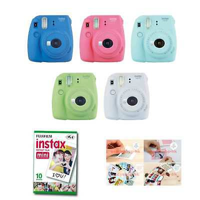 Fujifilm Instax Mini 9 Instant Camera 10 Packs Film + Sticker Gift 100 Photo 8