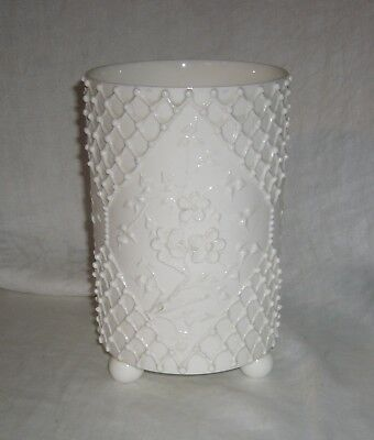Antique Knowles Taylor Knowles 1891-1896 Lotus Ware Ball Footed Cylindrical Vase
