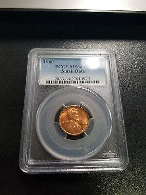 1960 Small Date RD Lincoln Cent