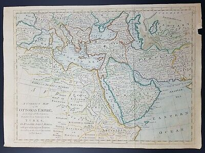 Mediterranean: A Correct Map of The Ottoman  Empire, By Thos Bowen, c 1770's