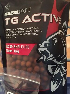 NASH BAIT  T.G.Active BOILIES , Carp Fishing Bait , SESSION PACK,, 35x12mm