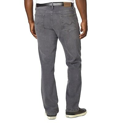 Urban Star Men's Relaxed Fit Straight Leg Jeans Grey