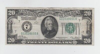 Federal Reserve Note $20 1928 Redeemable in gold  vf