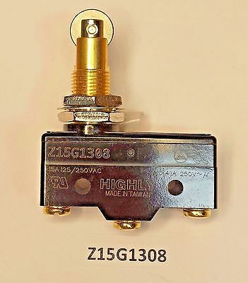 Z15G1308 Highly momentary roller plunger snap action SPDT 15 Amp 250 VAC switch