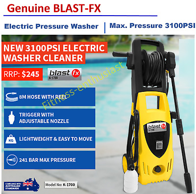 Blast FX 3100 PSI High Pressure Water Cleaner Washer Electric Pump Hose Gurney