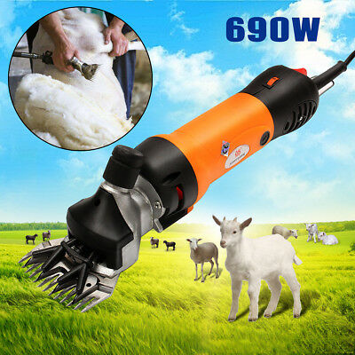 690W Electric Sheep Shearing Supplies Goats Clipper Shear Shears Alpaca Farm AU