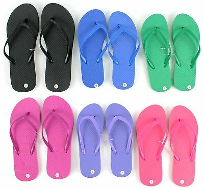 Wholesale Women's Flip Flops - Solid/Bright Colors - LOT OF 48