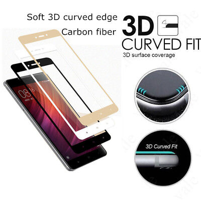 3D Curved Fit Tempered Glass Screen Protector Protection For Xiaomi Redmi 4X