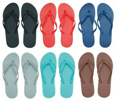Wholesale Women's Flip Flops - Solid/Bright Colors - LOT OF 48 - NEW