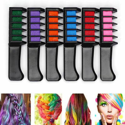 Use Temporary Hair Color Chalk Hair Styling Mini Hair Dye Comb Disposable Newly