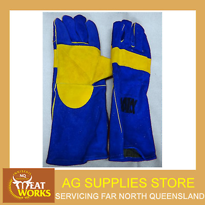 Welding Gloves Long - Double Palmed - Long Life Industrial Quality - NORTH QLD