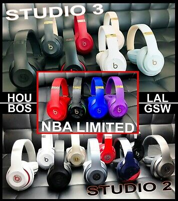 Beats by Dre Studio 2 / 3 Wireless Over Ear Headphones Matte Black White Blue