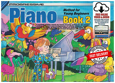 Progressive Piano Method For Young Beginners Book 2 + Online Media (Childs Book)