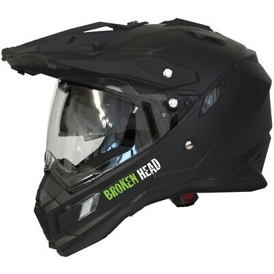 Motorradhelm Broken Head Endurohelm Black-Line (XS, S) #3003 Cross Helm