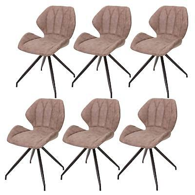 6x vintage leder st hle stuhl dining chairs denish 50er for Stuhl wildleder