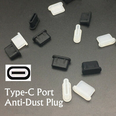Silicone Cover USB 3.1 Type C Port Anti-Dust Plug Protector For Cell Phone Lot