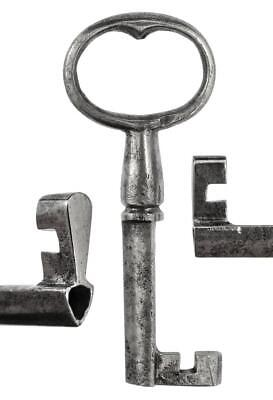 "Antique 18th/19th Century Iron Key with TRIANGULAR SHAFT 2⅞"" - ref.k436"