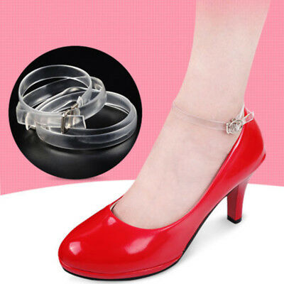 Detachable Clear Silicone Shoe Straps Band Holding Loose High Heeled Shoes Sale