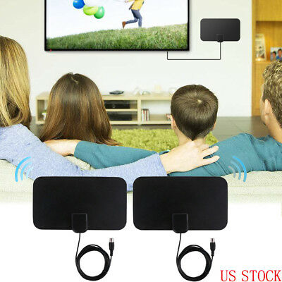 US 2x1080 HDTV Digital Antennas Improved AS SEEN ON TV Clear HD Amplified Indoor