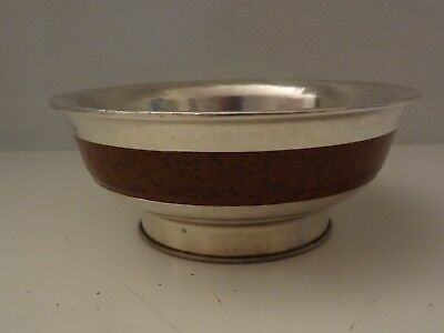 Used Traditional Mongolian Silver Bowl