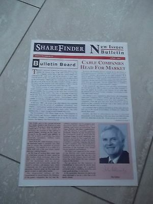Sharefinder. New Issues Bulletin.  APRIL  1995 VERY INTERESTING