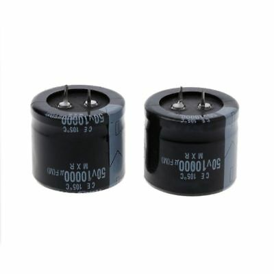 2 pcs 10000uF 50V Radial Electrolytic Capacitors Snap In Dubilier CLP10000DF50