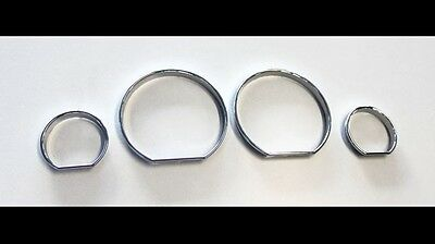 BMW E46 M M3 Chrome Speedometer Gauge Dial Rings Bezel Trim Speedo AC Tech TX