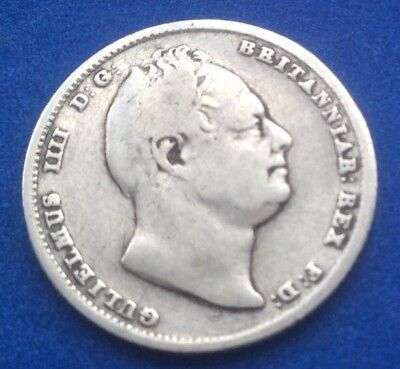 1834 King William Iiii Silver Sixpence Coin