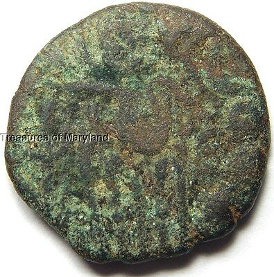 """INDIA C. 985-1014 AD """"OCTOPUS MAN"""" COPPER DRACHM COIN! sku #OM5"""
