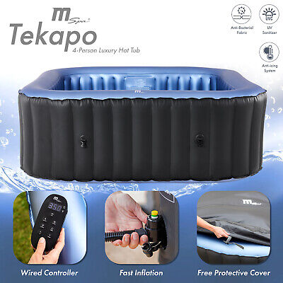 2019 MSpa Alpine Delight D-AL04 2+2 Inflatable Hot Tub Jacuzzi Bubble Spa Square