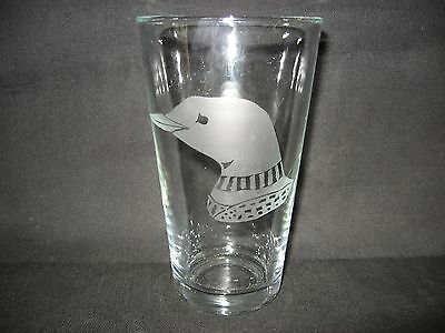 New Etched Loon Pint Glass Tumbler