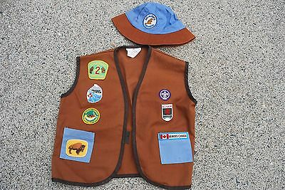 Beavers Scouts Canada Vest And Hat B.c.yukon , Fraser Valley , Abbotsford