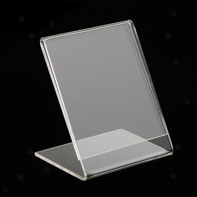 Acrylic Sign Holder Photo Frame Menu Name Card for Office Shool Business