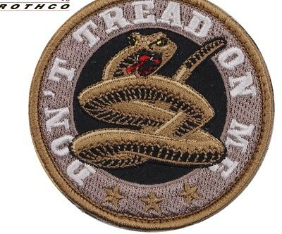 "Don't Tread On Me 3"" Round Morale HOOK Patch"