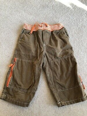 Boys Cargo Shorts Rib Waistband By Mini Boden Age 10 Years